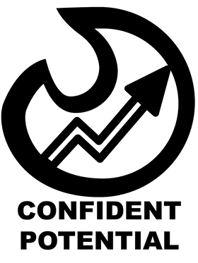 Flame and arrow logo idea for Confident Potential