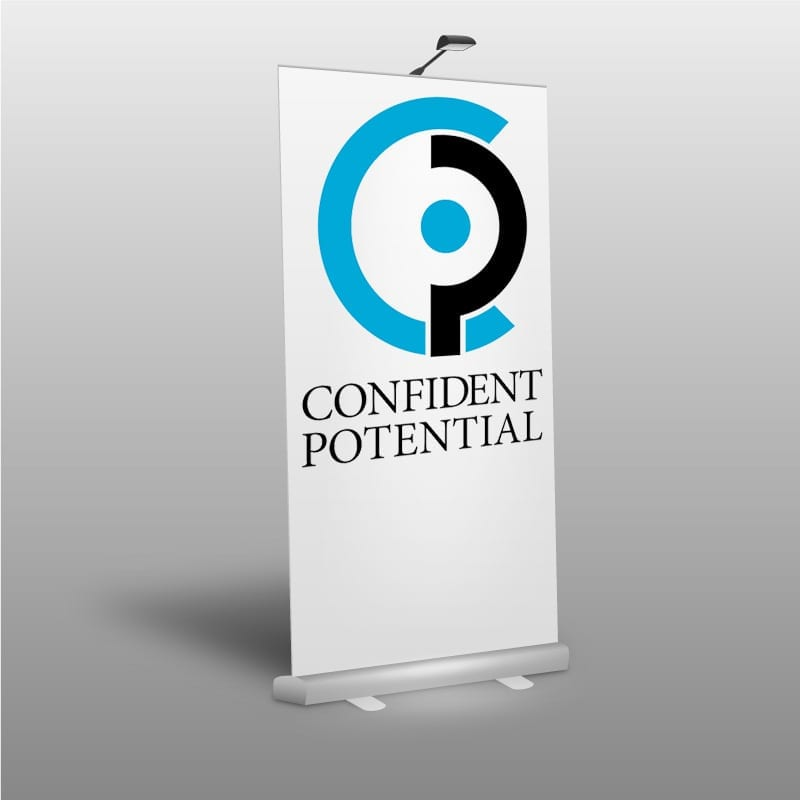 Confident Potential Logo on Popup Banner