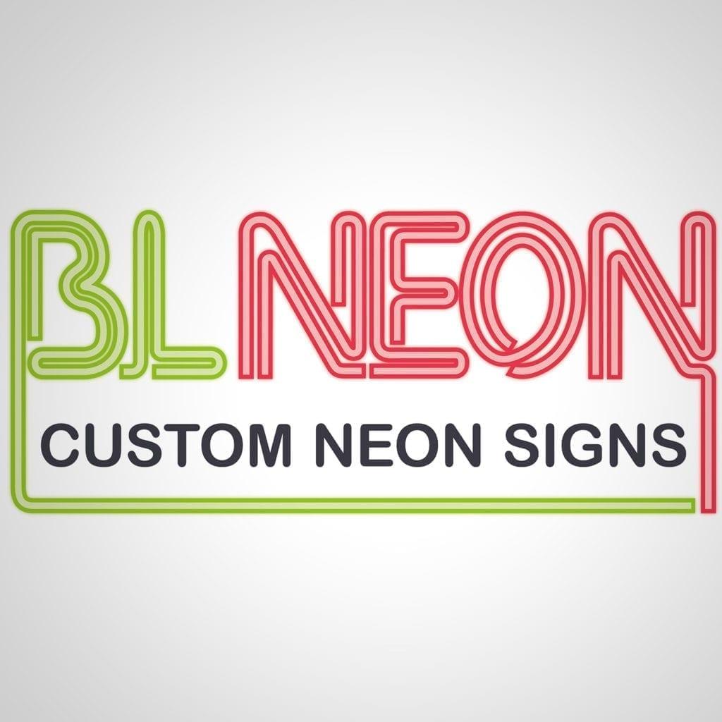 BL Neon Signage Logo Design